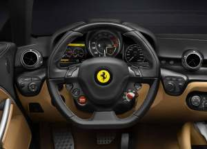 2013 Ferrari F12 Berlinetta steering wheel
